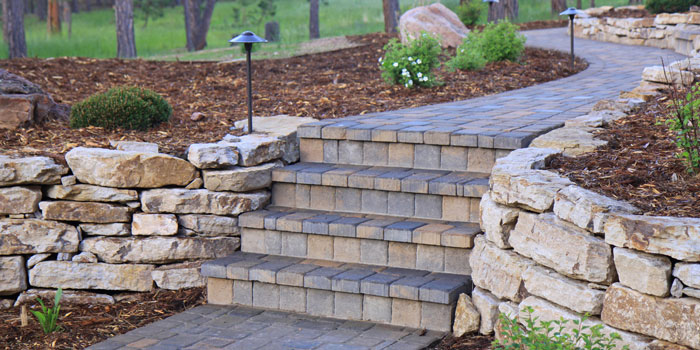 Stonework Contractor Marks Landscaping